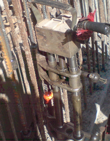 How the electroslag welding performs at site